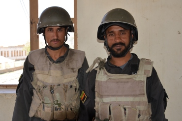 Afghan Security Group (ASG) guards at FOB Smart