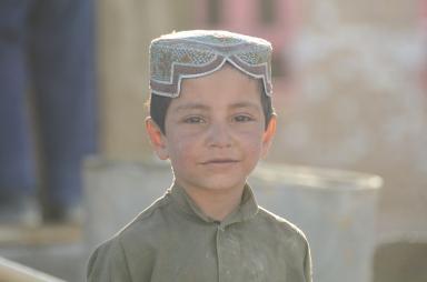 An Afghan boy in Shah Joy