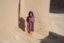A curious little girl in Jamalkheyl