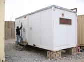 A single latrine trailer