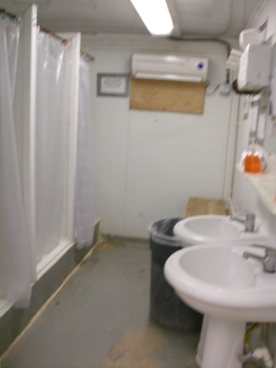 Another trailers with 3 showers & 2 sinks on one end