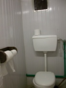 Our 'normal' toilets. Yes, you will find the occaisional boot prints on the seats