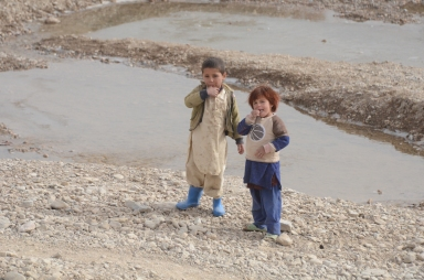 The kids near COP Mizan were excited to see us, hoping we had pens or candy for them.