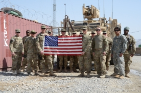 Another shot of the group with CPT Collins' flag - my mug is in this one.