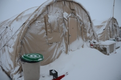 some needed help to get out of thier tents in the morning