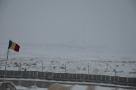 The Castle through the snowy mist