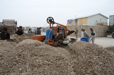 the aggregate used to mix the concrete - straight from ground near Apache