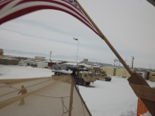 looking across the FOB