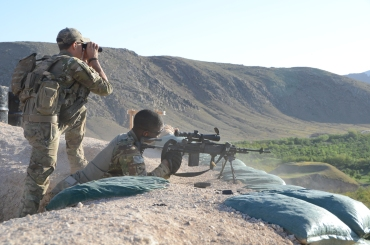 preparing to fire the M14 EBR