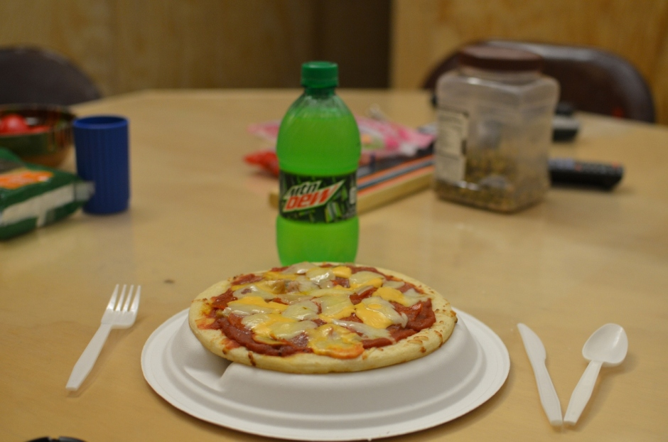 'Homemade' pizza in Afghanistan