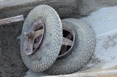 Flattened tires and bent rims