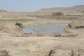 The Tarnak river - used for all water needs: drinking, bathing, washing clothes, cars, swimming, etc. all at the same time