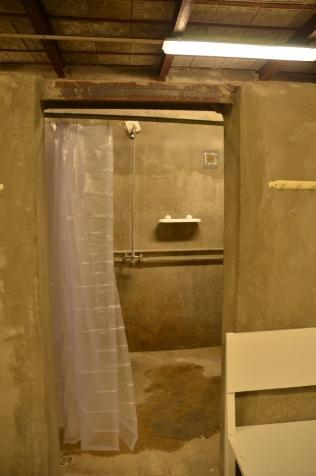 inside a shower 'room'