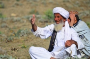This elder was speaking very animatedly all to himself...I'm not sure if he was happy with or complaining about the work