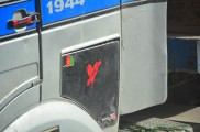 The dagger through the heart is a common theme for truck decorations