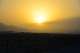 Sunset on FOB Apache