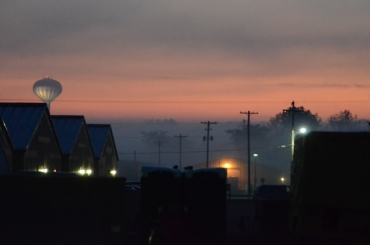 My last sunrise in the USA before coming to Afghanistan - Camp Atterbury, Indiana