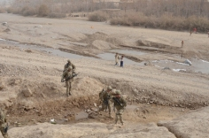on patrol with Soldiers from 1-24 Infantry