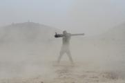 ANA Commander firing the recoilless rifle