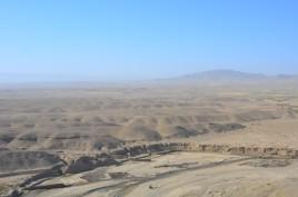 the barren landscape outside of Qalat