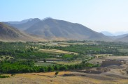 looking over the fertile valley from the OP in Mizan