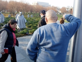 The Korean War Memorial is one of the most moving to me