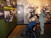 He really liked seeing the Korean war stuff at the Marine Corps Museum