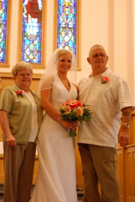 Grandma & Grandpa (my Mom & Dad) with Steph