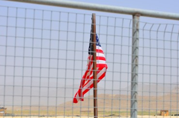 Flag through the wire