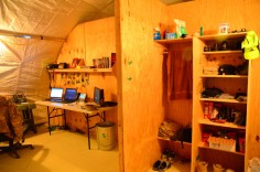 my closet and my work space in the background