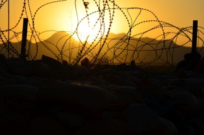 looking through the wire