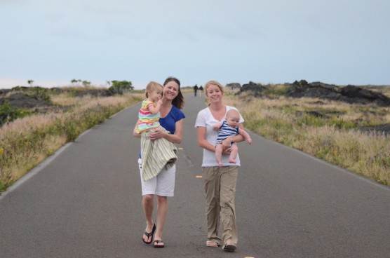 Kennadi, Kate, Kaylin & Sam at Volcanoes National Park