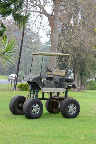 A very unique golf cart
