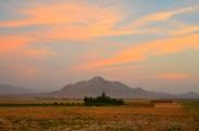 looking south at dusk
